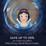 SAVE UP TO 25% ON ROOMS AT SELECT WALT DISNEY WORLD RESORT HOTELS THIS SPRING!