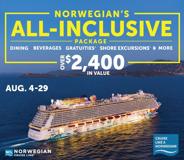 THE NORWEGIAN CRUISE LINE ALLINCLUSIVE PACKAGE  Enchanted Memories Travel