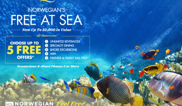 Norwegian's Free At Sea – Up to $2600 Value